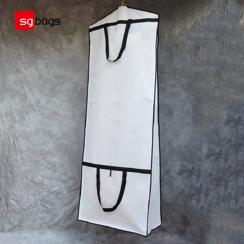 SGW01 Engroshandel Non Woven Wedding Dress Dækker Bridal Gown Garment Bags for Gowns